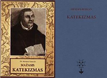 Palyginkime Heidelbergo ir mažąjį Martyno Liuterio katekizmus