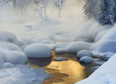 Šaltinis žiemą